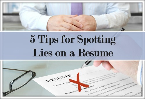 discover how to identify lies on a sales resume